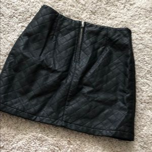 Forever 21 Skirts - NWT black leather skirt size Large